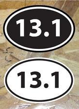 """13.1 Half Marathon Run mile sticker decals Black & White - 2 for 1 (5"""")"""