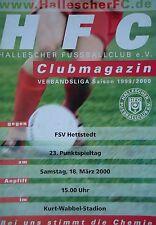 Programm 1999/00 HFC Hallescher FC - FC Hettstedt