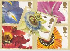 GB POSTCARDS PHQ CARDS USED REAR FDI FULL SET 1997 Greetings Flowers GS 5