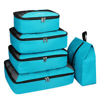 5 Pc Packing Cubes Travel Luggage Suitcase Organizer Waterproof Wash Bag Clothes