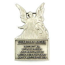 Visor Clip Guardian Angel Protect Me Silver Pewter Vintage Car Auto Catholic