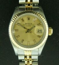 Ladies 18K Rolex Steel & Gold Datejust 6917 with Champagne Dial Circa 1981