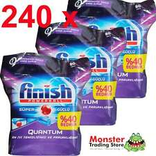 240 X FINISH QUANTUM POWERBALL SUPER DISHWASHING TABLET DISHWASHER CLEANS DISHES
