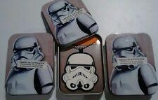 Star Wars Printed Tin Case Necklace w/Rubber StormTrooper Emblem 3Pcs LOT favor