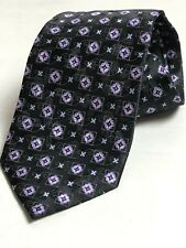NEW Bloomindales Joseph & Lyman Mens Dress tie 100% silk -Black flloral geo
