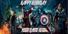 Birthday banner Personalized 4ft x 2 ft  The Avengers