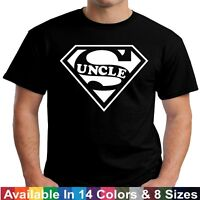 SUPER UNCLE T Shirt Funny Fathers Day Birthday Niece Nephew Gift Tee T Shirt