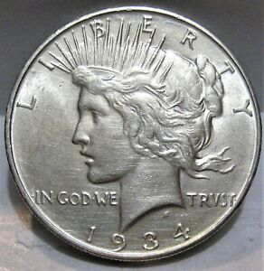 1934-D Peace Dollar - Better Grade - Beautiful Luster (Read Description)