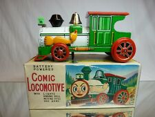 TIN TOYS BLECH COMIC LOCOMOTIVE  - BATTERY L27.0cm - GOOD CONDITION IN BOX