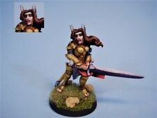 Reaper painted miniature female Paladin