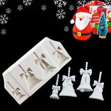 Christmas Bells XMAS Embellishment Cake Mold Sugarcraft Fondant Decorating Tool