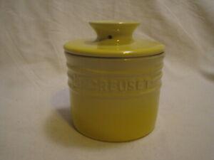 Le Creuset Soleil Sun Yellow Stoneware Butter Bell Crock