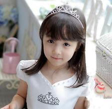 Tiara Hair Crystal Rhinestone Band Kid Girl Bridal Princess Prom Crown Headband