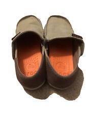CROCS Santa Cruz Boy Kids Beige Brown Khaki Canvas Loafer Casual Shoes C 12 / 13