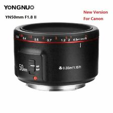 New Yongnuo YN50mm F1.8 II MF AF Prime Lens Large Aperture Auto Focus for Canon