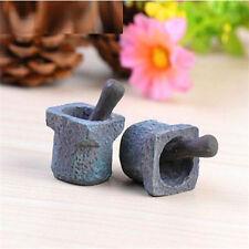 FD3559 Miniature Dollhouse Garden Craft Fairy Bonsai Decor ~Stone Mortar~1PC