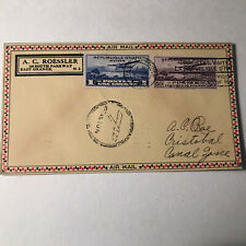 1930 Haiti To Canal Zone Airmail Cover