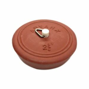 Red Pinned Rubber Plug Suits 55~60mm Sink, Basin and Bath 62065