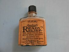 ANTIQUE RAWLEIGHS APOTHECARY MEDICINE GLASS BOTTLE ORIG. PAPER LABEL 53% ALCOHOL