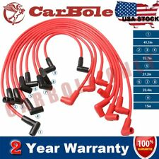 8MM Super Stock Male HEI Spark Plug Wire Set Ignition Cable For Buick Chevrolet