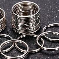 Wholesale 50 pcs Silver Metal Split Key Ring Keyring Keychain 25mm Jump Rings