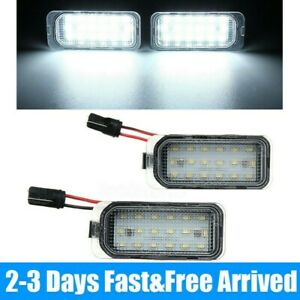 LED Licence Number Plate Light For Ford Fiesta Focus Mondeo C-Max Jaguar XJ XF