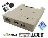 Amiga Atari ST Amstrad HxC USB Floppy Disk Emulator GOTEK beige w/8GB USB key
