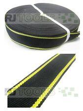 Gurtband (PP) 50mm breit / 100m-Rolle / 1,4mm dick / schwarz - gelb € 0.33 pm.