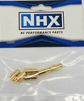 NHX 6.0mm Gold Plated Bullet Adapter Connector Male / Female 3Pairs/Bag
