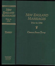 New England Marriages Prior To 1700 Genealogy Book