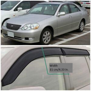 TE212800 Window Visors Sun Guard Vent Wide Deflectors For Toyota Mark II Sd X11
