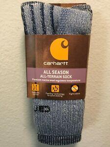 Carhartt All Season All-Terrain Women's Crew  Socks 2 pair M
