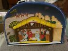 Glolite Glo-Lite Corp Nativity Light Up Christmas arched Vintage