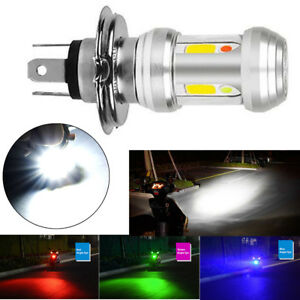36W H4 LED Moped Scooter Headlight Bulb High/Low Beam w/ Blue/Red/Green Flasher