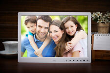 """15"""" LED White Clock/MP4/Movie Digital Photo Picture Frame Album Touch Button"""