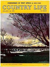 Country Life Magazine Glastonbury Somerset January 16 1975 Birthday Gift