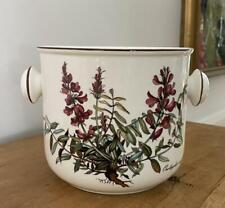 "Villeroy &Boch Botanica Cache Pot Ice Bucket Purple Flowers 5.25"" x 6"" Excellent"
