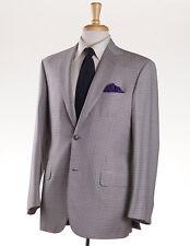 NWT $4495 BRIONI 'Colosseo' Burgundy-Sky Blue Check Wool Sport Coat US 50 R