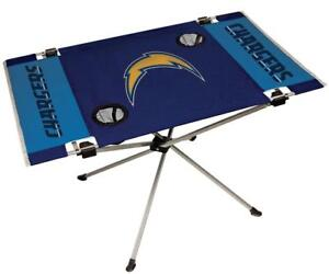 Los Angeles Chargers Endzone Tailgate Table [NEW] NFL Portable Chair Fold Party