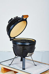 """YNNI KAMADO 14"""" Bespoke Ceramic Oven BBQ Grill Egg with Stand and Cover TQ0014BE"""