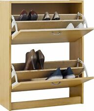HOME Shoe Storage Cabinet - Oak Effect.