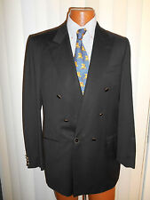 BRIONI BLACK DOUBLE BREASTED BLAZER  Size 39 L  Beautiful Condition  Italy..!