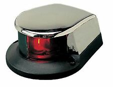 Boat Navigation Bow Front Nav Light Red/Green Chrome Low Profile