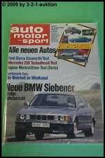 AMS Auto Motor Sport 18/86 * Ford Sierra Cosworth BMW 735i Toyota 3,0i