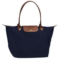 Longchamp 1899089556 Le Pliage Nylone Tote Handbag Navy Blue Large