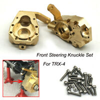 1Pair Heavy Duty Brass Front Steering Knuckle Set For TRAXXAS TRX-4 TRX4 1/10 RC