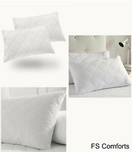 Ultra-Loft Super Quilted Luxury Jumbo Super Bounce Back Bed Pillows Pack Of 2,4