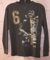Faded Glory Boys FOOTBALL large 10-12 THERMAL TEE long sleeve top PRO CLEANED