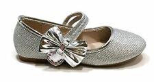 Anna Home Collection Bella Marie Silver Glitter Dress Ballet Flats 10 Toddler