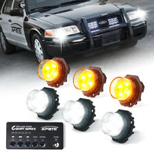 Xprite 6x Whiteamber Led Strobe Lights Kit Hideaway Car Truck Emergency Warning